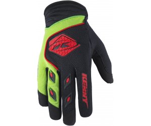 KENNY rukavice TRACK 17 black/green/red
