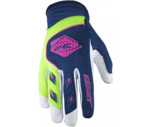 KENNY rukavice TRACK 17 dětské navy/lime
