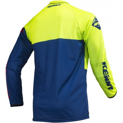 KENNY dres TRACK 19 lime/navy/red
