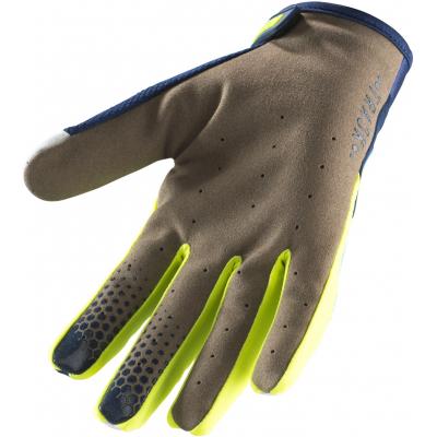 KENNY rukavice TRACK 19 navy/cyan/neon yellow