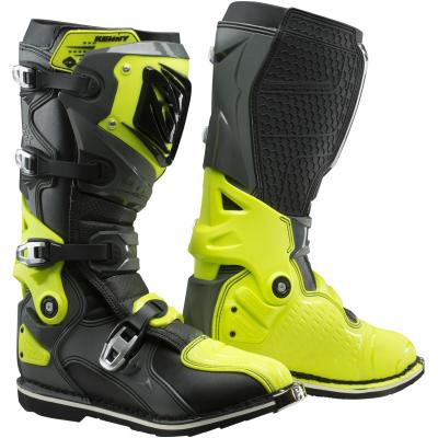 KENNY topánky TITANIUM 19 grey/neon yellow