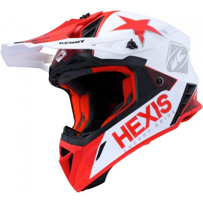 KENNY přilba TROPHY 20 Hexis white/red
