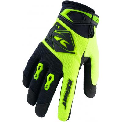 KENNY rukavice TRACK 20 dětské neon yellow/black