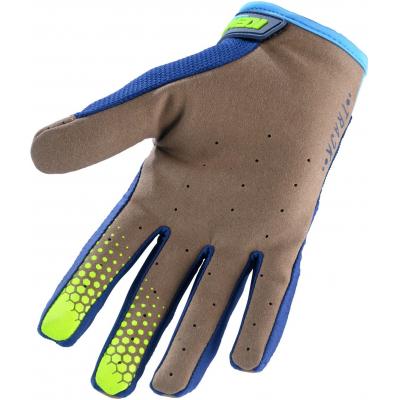 KENNY rukavice TRACK 20 dětské cyan/neon yellow
