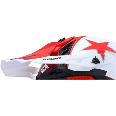 KENNY šilt TROPHY 20 Hexis white / red