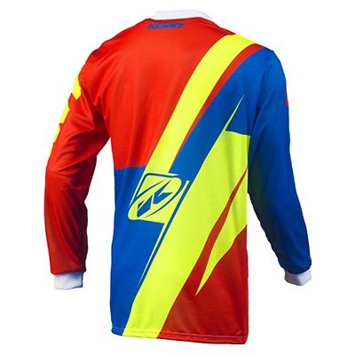 KENNY dres TRACK 15 LE orange/blue/neon yellow