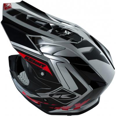 KENNY přilba PERFORMANCE 16 grey/black/red