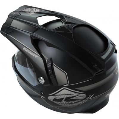 KENNY přilba XTR 16 silver/matt black