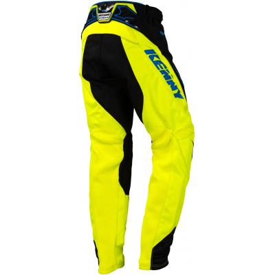 KENNY kalhoty TITANIUM 16 black/neon yellow/blue