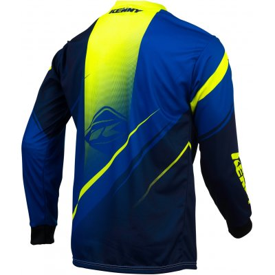 KENNY dres TRACK 16 blue/neon yellow