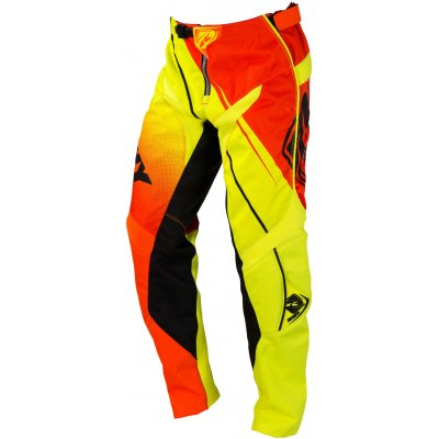 KENNY kalhoty TRACK 16 neon orange/neon yellow