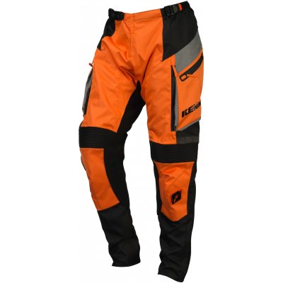 KENNY nohavice ENDURO 16 orange / grey