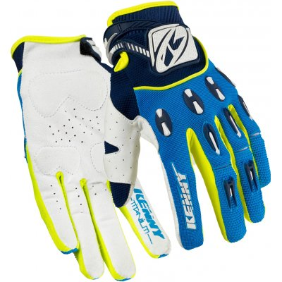 KENNY rukavice TITANIUM 16 blue / neon yellow