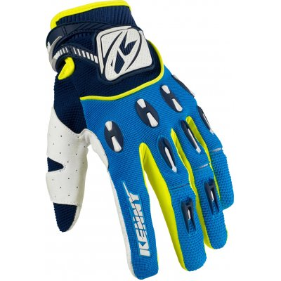 KENNY rukavice TITANIUM 16 blue/neon yellow