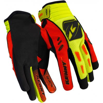 KENNY rukavice TRACK 16 dětské neon orange/neon yellow