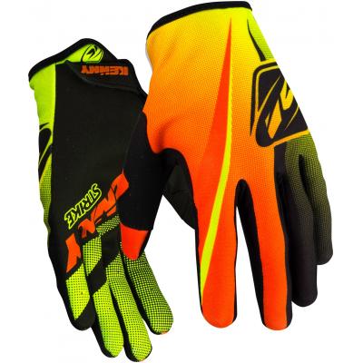 KENNY rukavice STRIKE 16 dětské neon yellow/neon orange