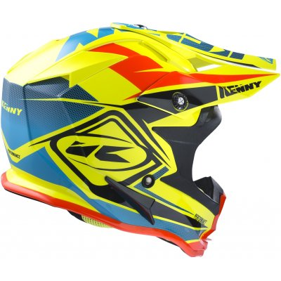 KENNY prilba PERFORMANCE 17 neon yellow / blue / orange