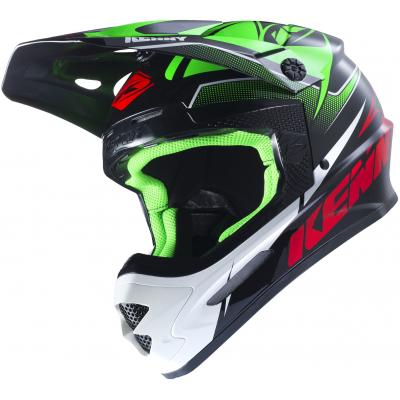 KENNY přilba TRACK 17 green/black/red