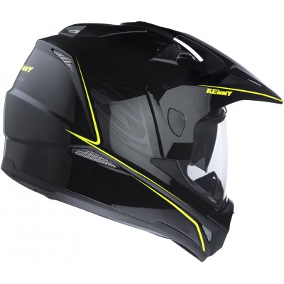 KENNY přilba EXTREME 17 black/neon yellow
