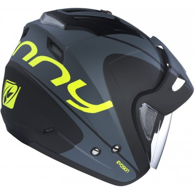 KENNY prilba EVASION 17 black / neon yellow
