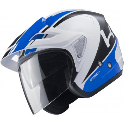 KENNY přilba EVASION 17 white/blue