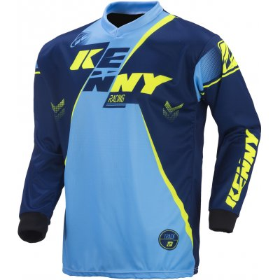 KENNY dres TRACK 17 navy/cyan/neon yellow