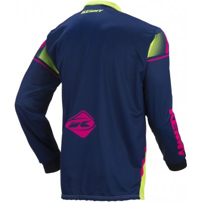 KENNY dres TRACK 17 navy/lime/neon pink
