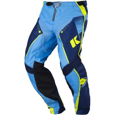 KENNY kalhoty TRACK 17 navy/cyan/neon yellow