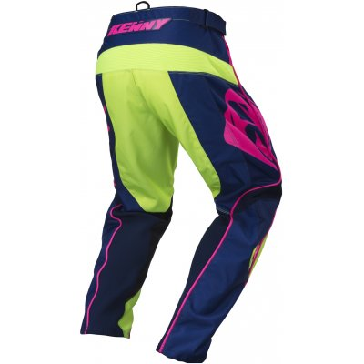 KENNY nohavice TRACK 17 navy / lime / neon pink