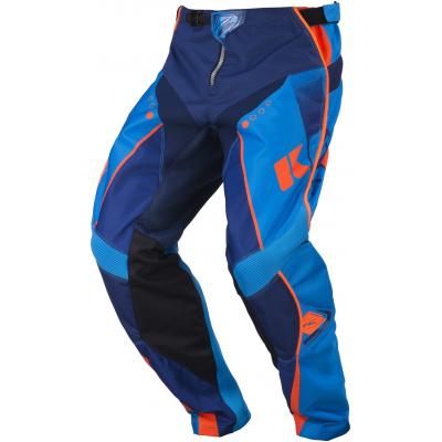 KENNY kalhoty TRACK 17 navy/cyan/neon orange