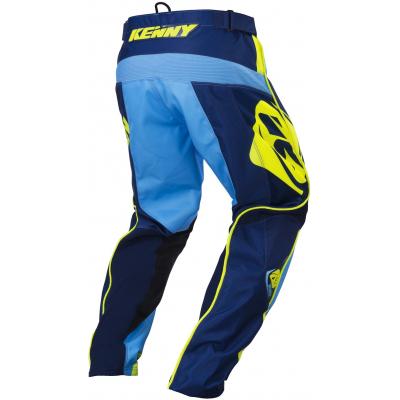 KENNY kalhoty TRACK 17 dětské navy/cyan/neon yellow