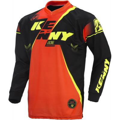 KENNY dres TRACK 17 dětský black/neon orange