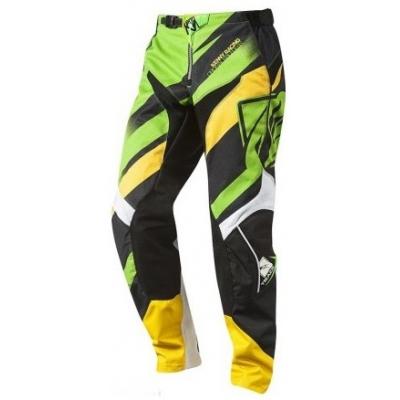KENNY kalhoty TRACK 14 dětské green/yellow