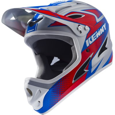 KENNY cyklo přilba DOWNHILL 17 red/blue/grey