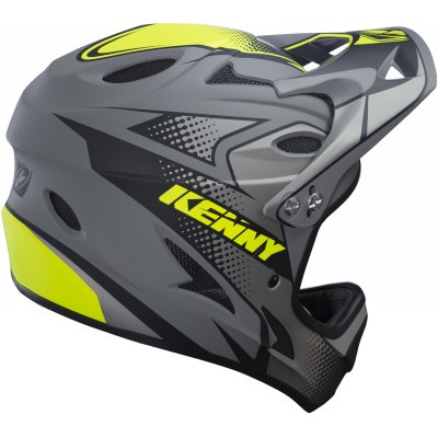 KENNY cyklo přilba DOWNHILL 17 grey/neon yellow