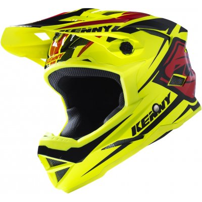 KENNY cyklo přilba SCRUB 17 neon yellow/black/red