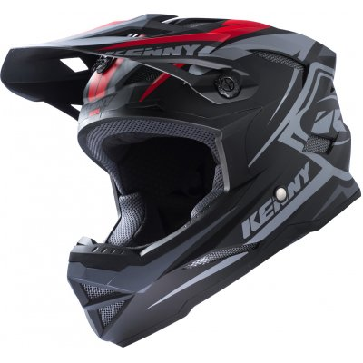 KENNY cyklo přilba SCRUB 17 black/grey/red