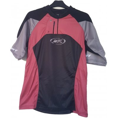KENNY cyklo dres UP AND DOWN grey/red