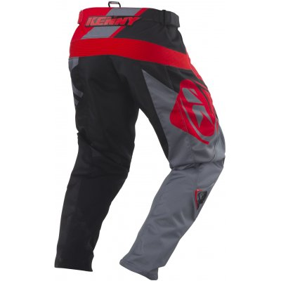 KENNY nohavice TRACK 18 grey / red