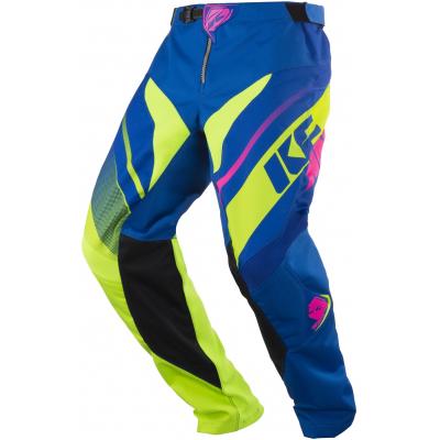KENNY kalhoty TRACK 18 lime/pink