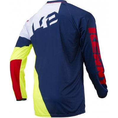 KENNY dres TRIAL UP 18 blue/neon yellow