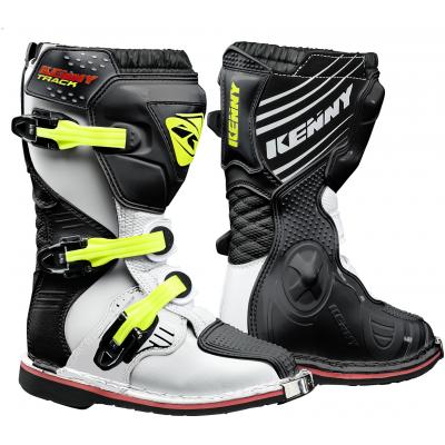 KENNY topánky TRACK Junior 18 detské white / black / neon yellow