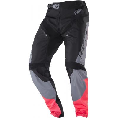 KENNY cyklo kalhoty ELITE 18 dětské black/coral