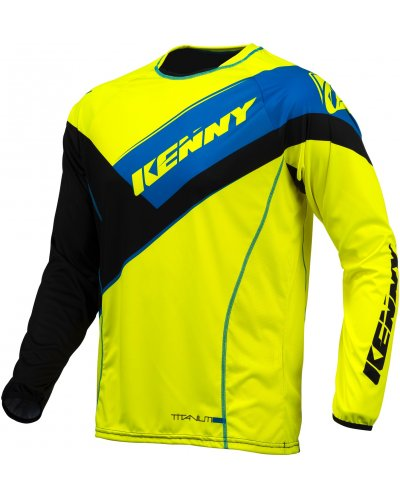 KENNY dres TITANIUM 16 black/neon yellow/blue