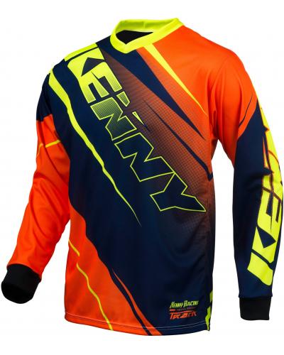 KENNY dres TRACK 16 dětský blue/neon orange