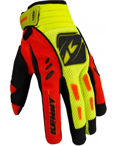 KENNY rukavice TRACK 16 neon orange/neon yellow