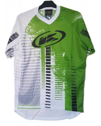 KENNY cyklo dres STEP 12 white/green
