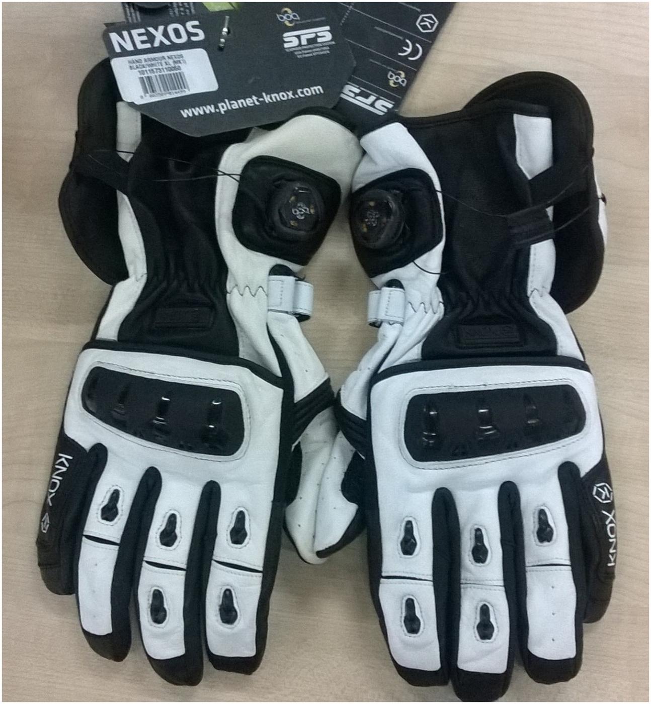 KNOX rukavice NEXOS white - POUŽITÉ  557348ce1d