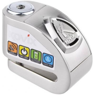 KOVIX kotoučový zámek s alarmem KD6 silver