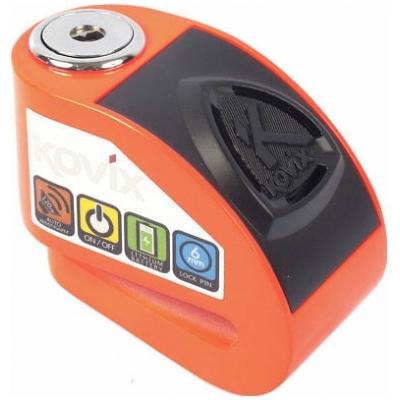 KOVIX kotoučový zámek s alarmem KD6 fluo orange